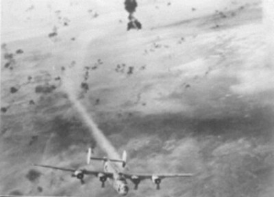 This one belongs to 457th Bomb Group of the United States Air Corps attacked by Flak over