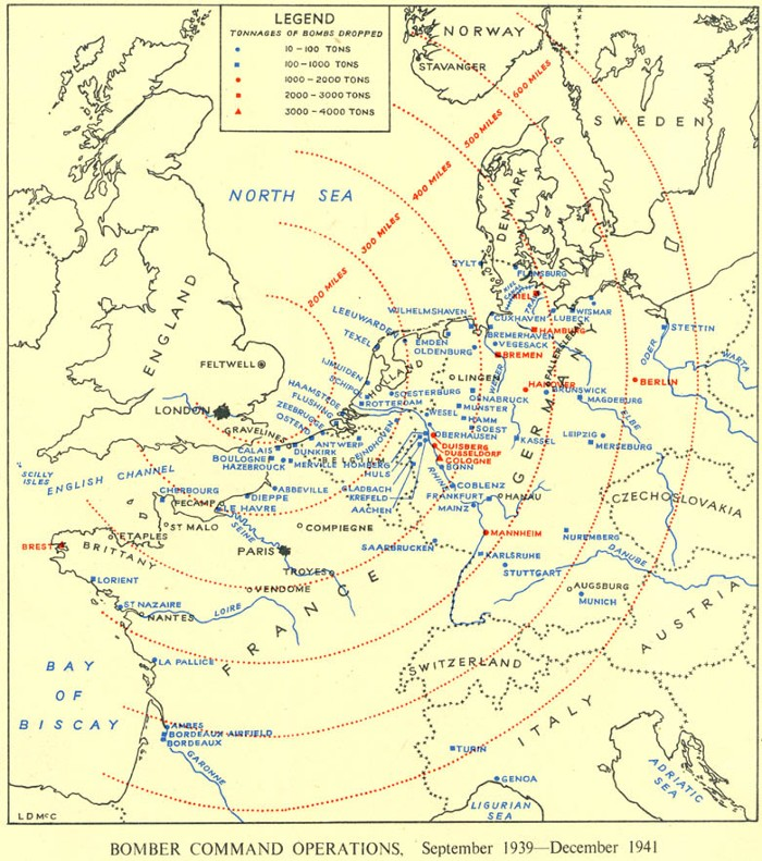 Bomber Command Operations, September 1939 - December 1941